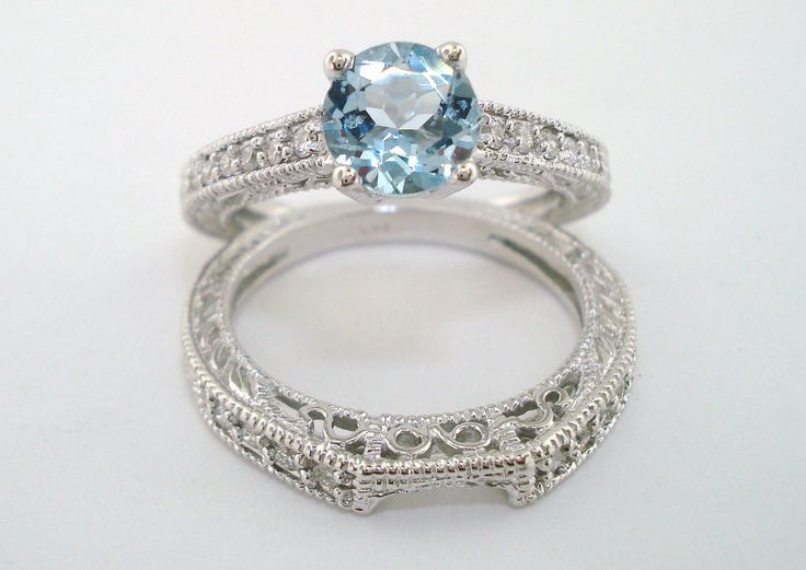 1000 images about La s Engagement Ring w Matching Band Sets on Pinterest