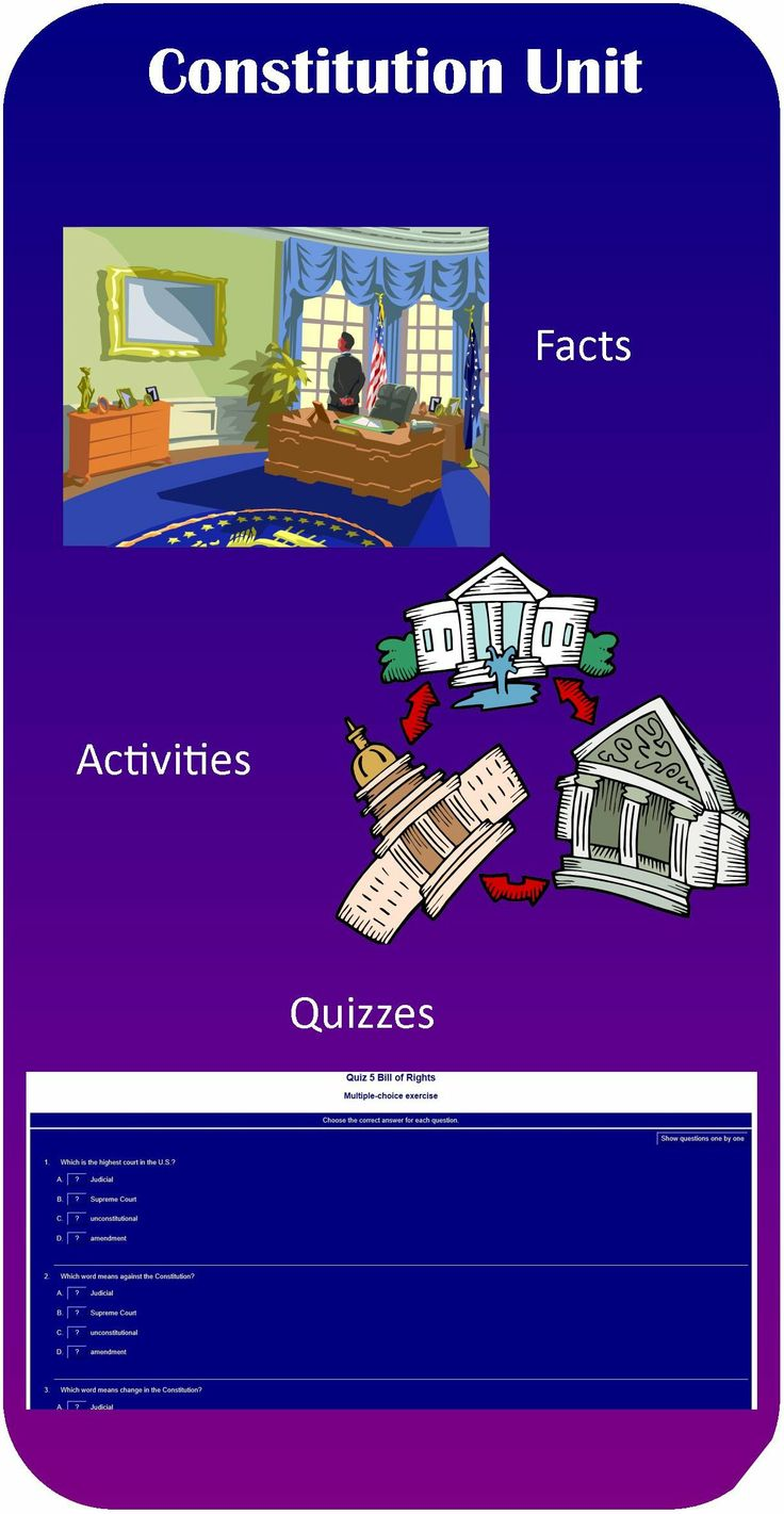 Great website where students can learn about the Constitution and take interactive quizzes!