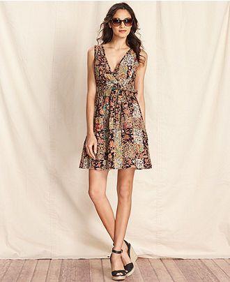 Tommy Hilfiger Dress, Sleeveless Printed A-Line - Tommy Hilfiger - Women -  Macy's