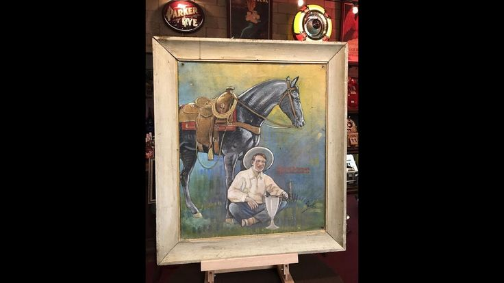 Everett Bowman World Rodeo Champion Oil Painting FOR SALE $399