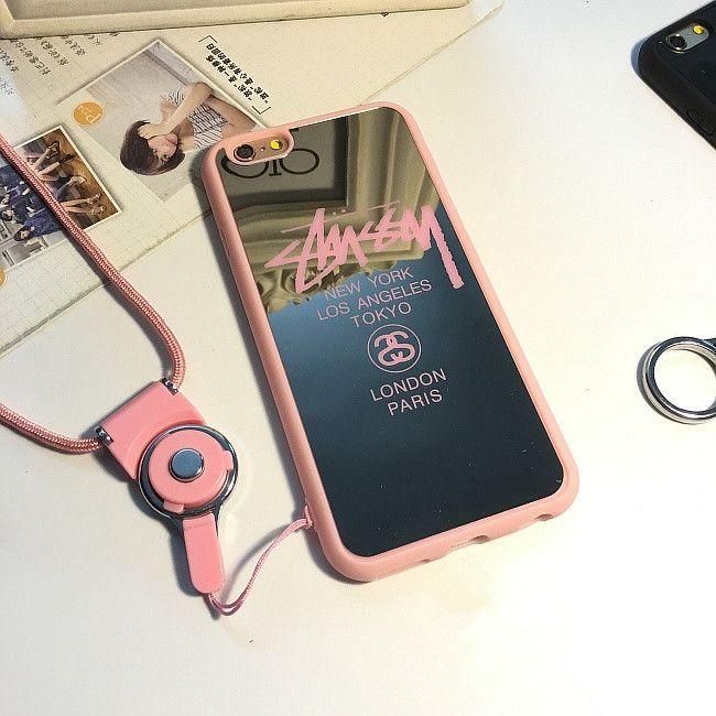 ステューシー iPhone7 plus カバー 可愛い 女性 花柄 バラ