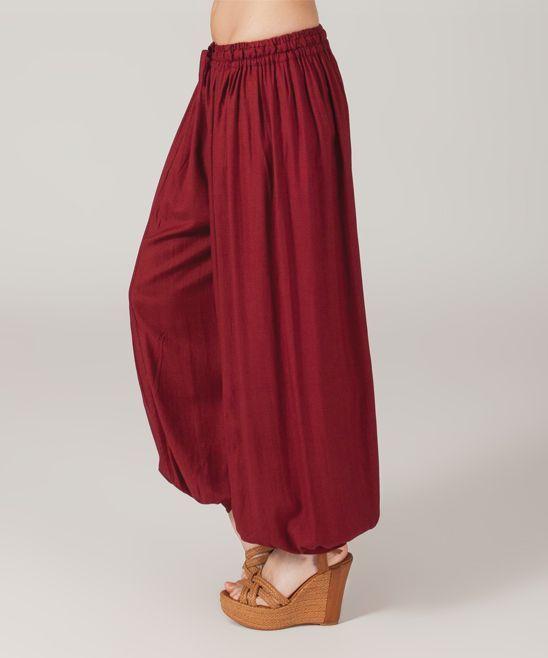 Burgundy Harem Pants