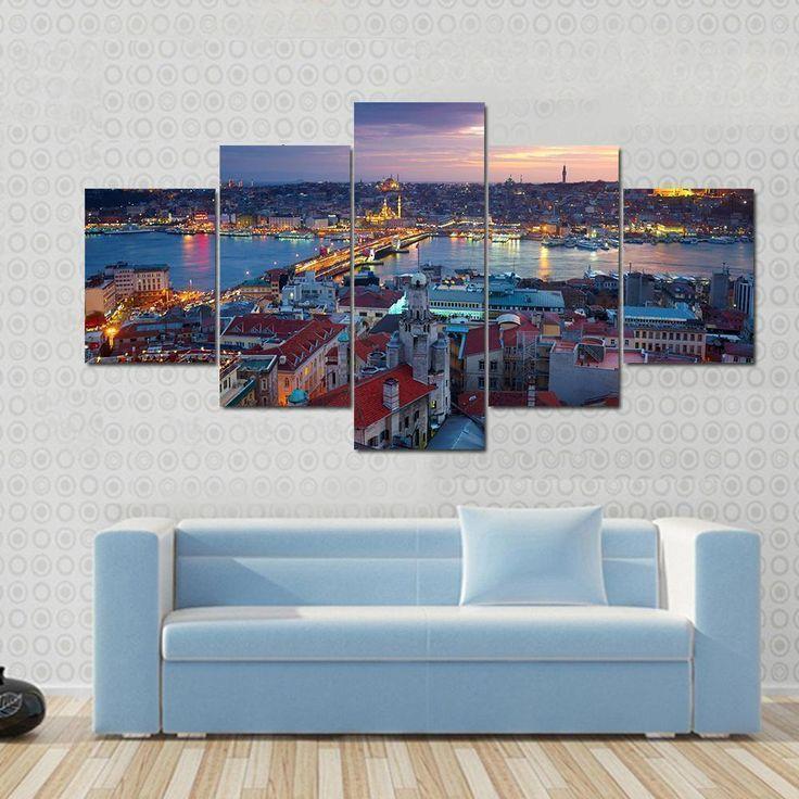 Beautiful Istanbul Sunset Panorama Nature Canvas Wall Art Art Beautiful Canvas Istanbul Nature Panor Customized Canvas Art Canvas Wall Art Big Wall Art