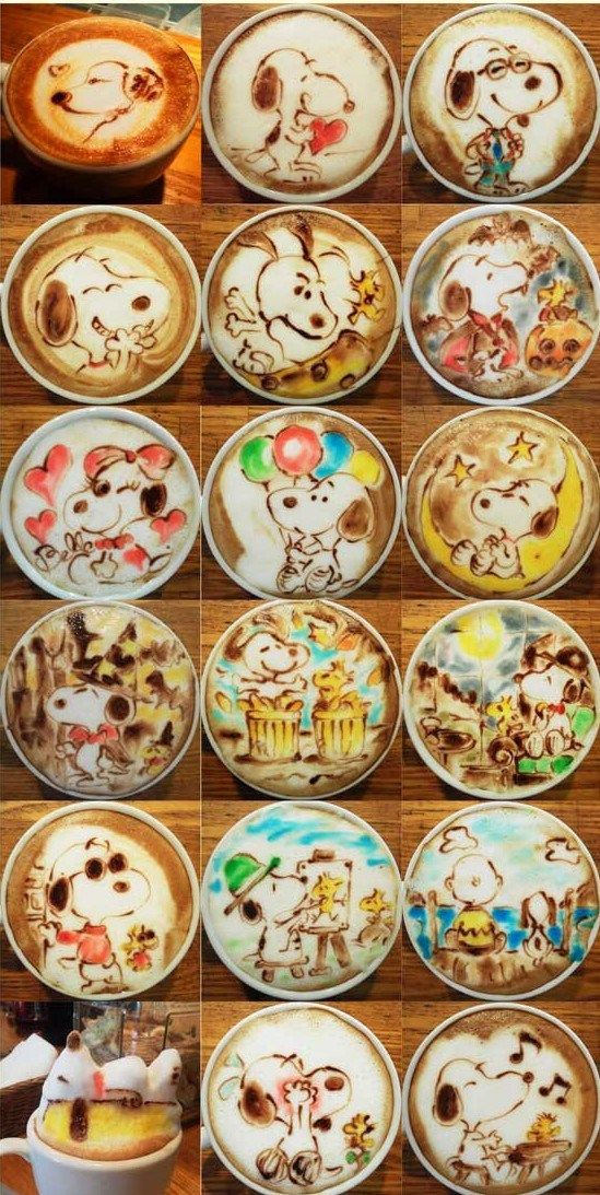 More Snoopy Cafe Latte Art