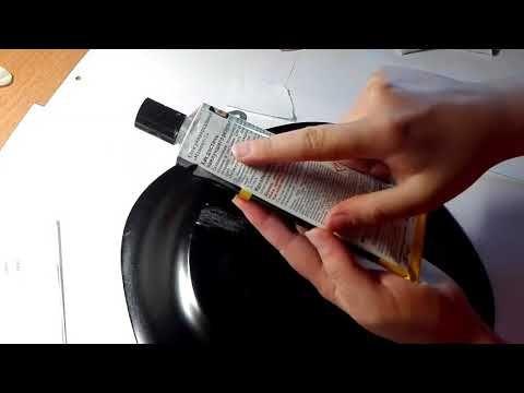 Яна Шапран Крепление для тарелки | Приклеиваем подвес - YouTube