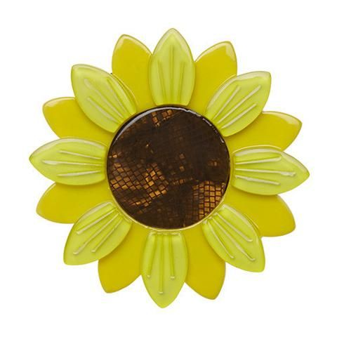 Sumptuous Sunflower (Yellow Resin Brooch)