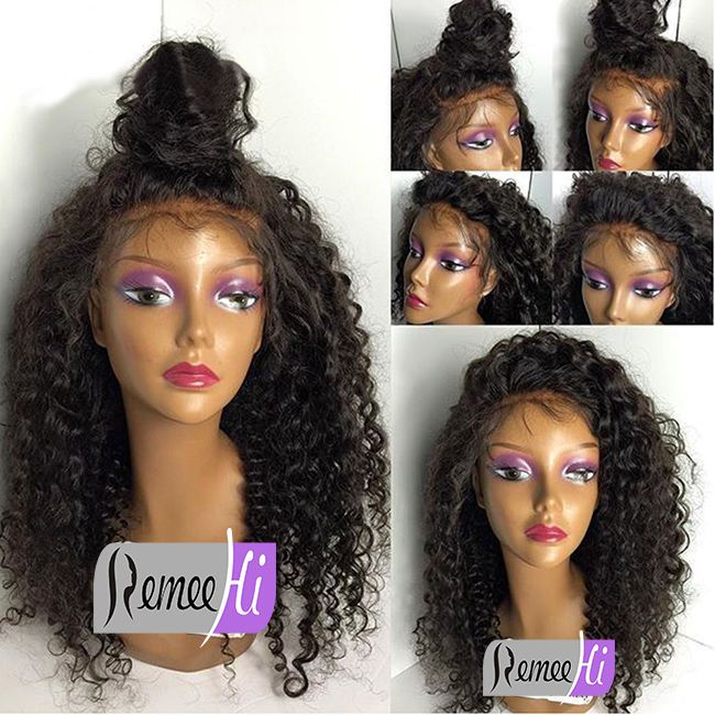 Brazilian Deep Curly Human Remy Hair Front Wigs Full Lace Wig Baby Hair Around in Clothing, Shoes & Accessories, Women's Accessories, Wigs, Extensions & Supplies | eBay