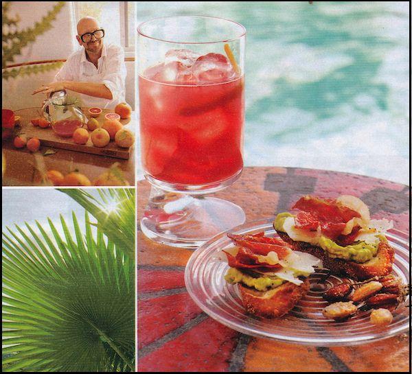 Grapefruit-campari cocktail