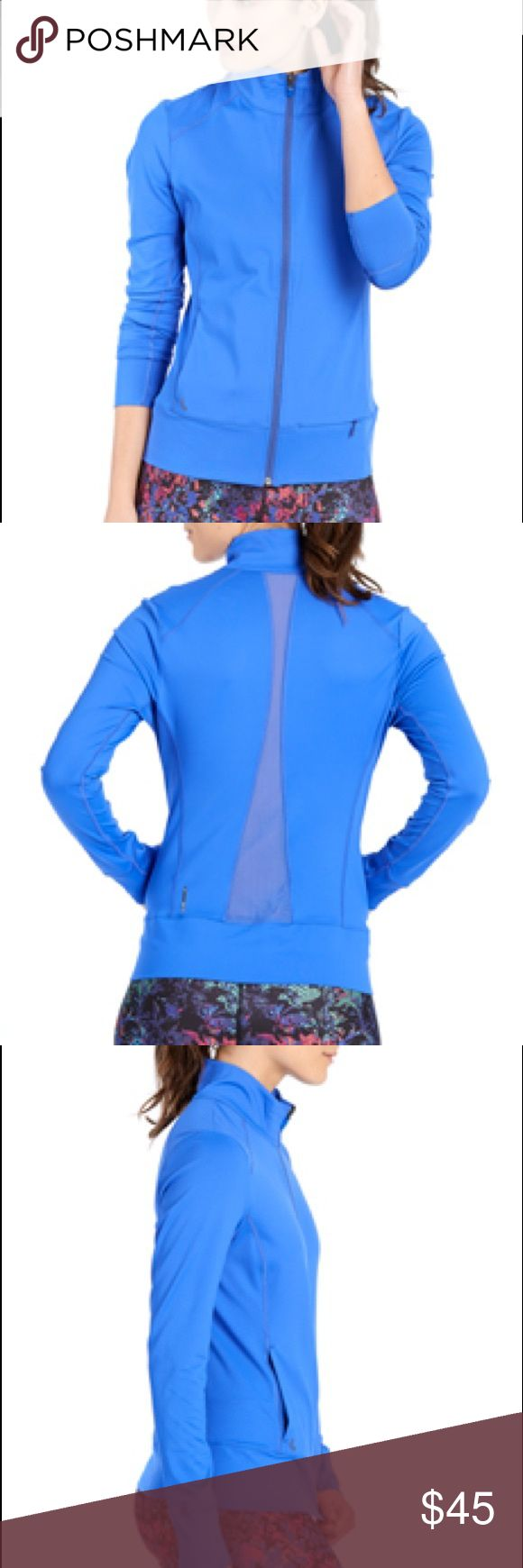 Lolë Essential Up Jacket Perfect condition. Worn once or twice. This Lolë stand-up collar jacket with mesh inserts is a fan favourite. Thanks to its thumbholes, this top keeps up with you no matter what activity you choose. The reflective logo keeps you safe when you train outside when it's dark. Center front lock-down zipper. Two hand pockets. Length: 25 in./62.5 cm Lole Jackets & Coats
