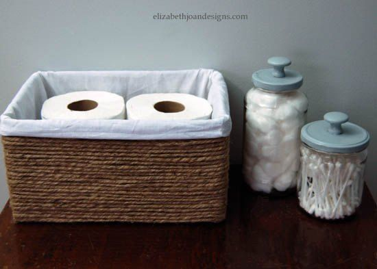Cheap, cute baskets can be hard to come by. So I racked my brain and came up with this wonderful substitute. Visit elizabethjoandesigns.com for all of the detai…