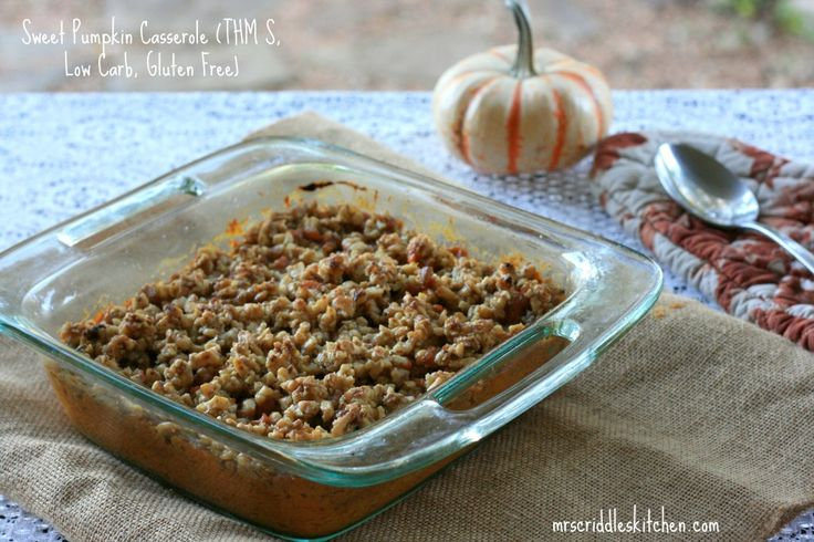 A Lower Carb & Gluten Free take on a Sweet Potato Casserole! - to make this dairy-free replace the heavy cream with coconut or cashew milk and the butter with coconut oil.