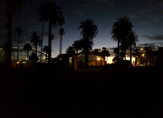 St Kilda Beach at night