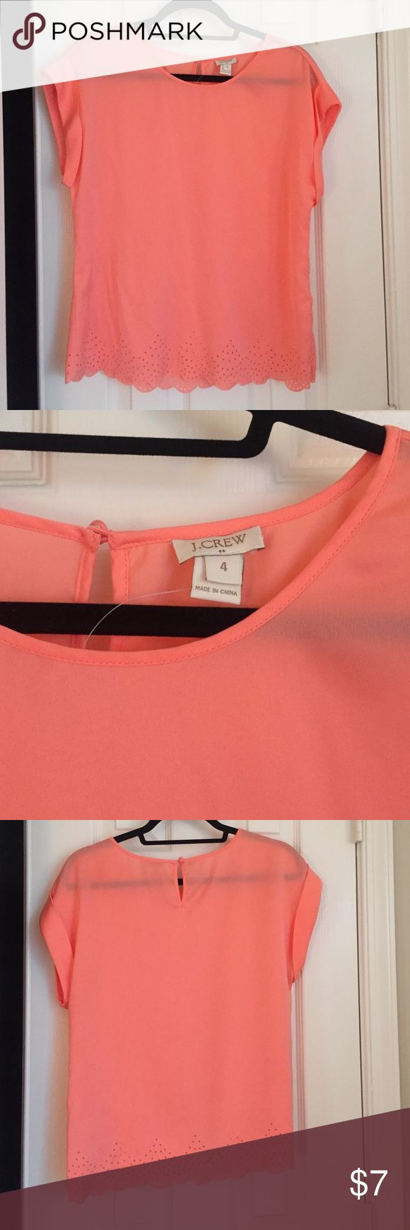 Jcrew factory coral blouse Size 4 Coral jcrew factory top size 4 new with out tags J.Crew Factory Tops Blouses