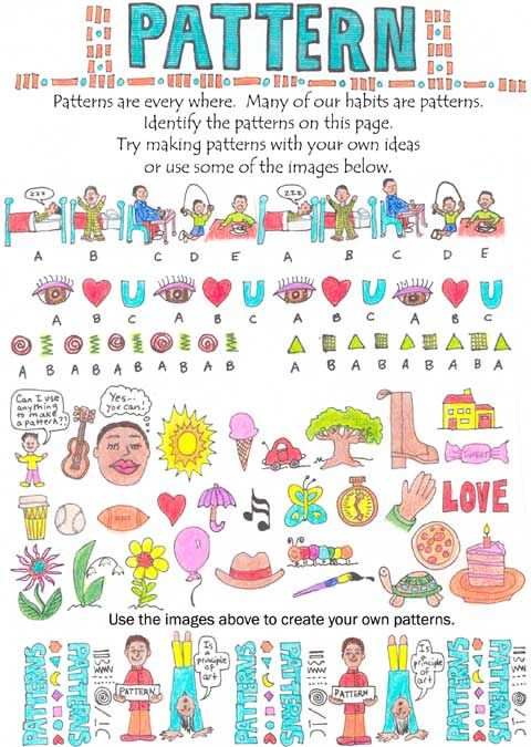 The ABCs of Art- Learn about the principle of design and art, pattern.  Remember bby reciting this pattern poem.