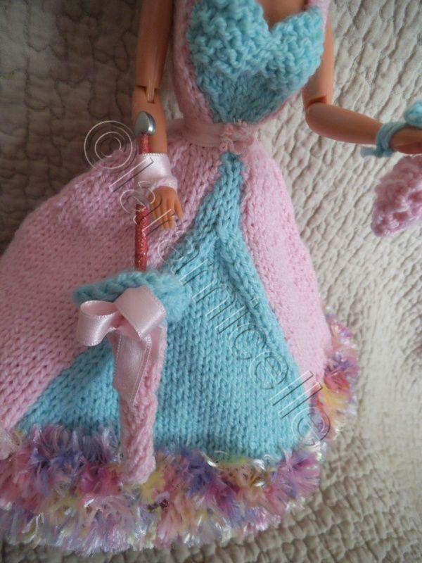 """tuto gratuit barbie :ombrelle et sac pour barbie princesse """"catdebienne"""""""