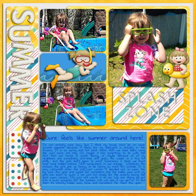 Pool Page by sastampink using Words and Pictures Single 1 by Misty Cato