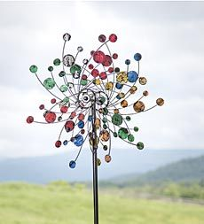 Captivating Confetti Spinner Is Like A Party Of Color And Motion For Your Yard.