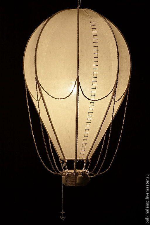 """Купить светильник """"воздушный шар"""" - бежевый, воздушный шар, светильник, ручная работа, каркас металл"""