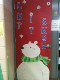 Polar Bear Door Decoration We Made This School Door