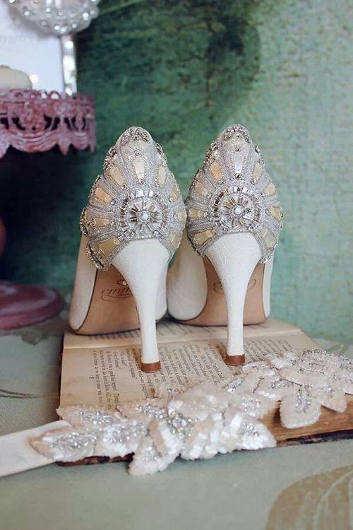 Gatsby heels, inspiration for my sister's wedding.