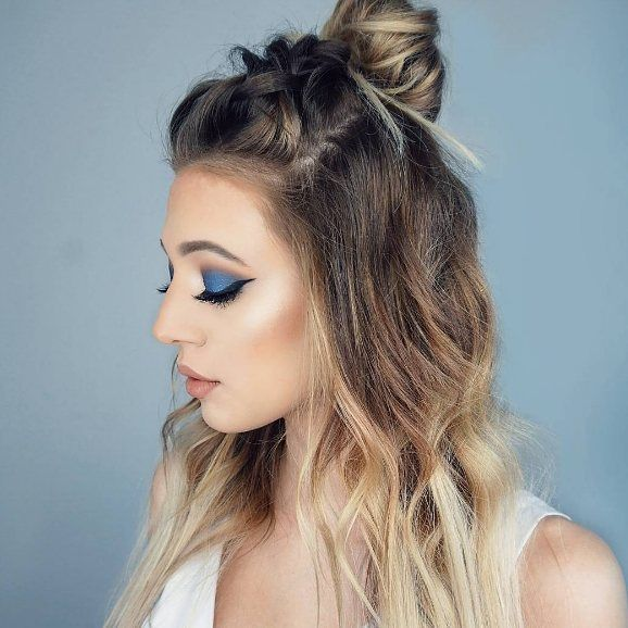 Braid + top knot = PERFECTION  This hairstyle is a perfect balance between elegance✨  and fun ! Double tap if you love this hairdo as much as we do !   @tutoriabeauty #hairoftheday #NuMeStyle #topknot