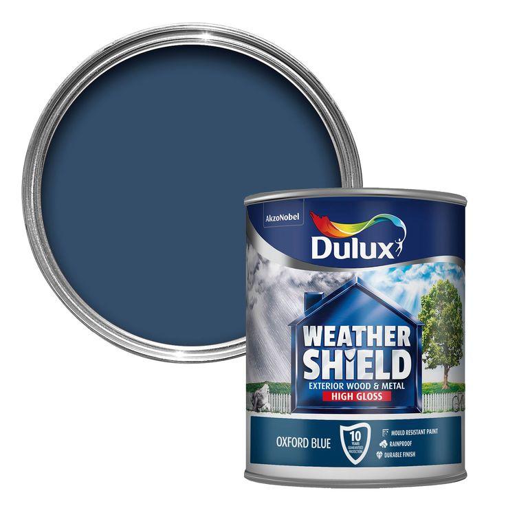 Dulux Weathershield Exterior Oxford Blue Gloss Wood & Metal Paint 750ml | Departments | DIY at B&Q