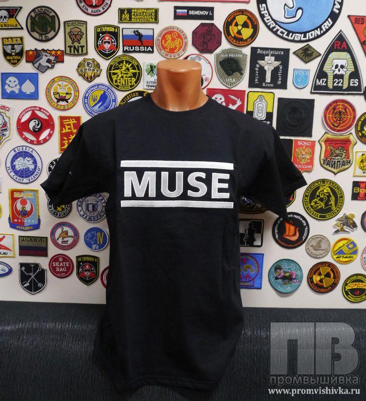 Вышивка на футболке на заказ MUSE
