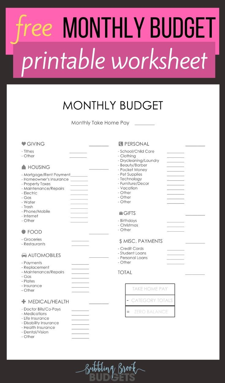 Printable Budget Worksheet Dave Ramsey   Learning How to Read