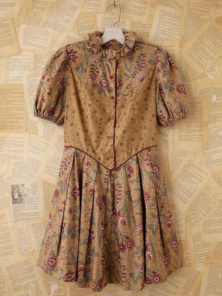 Free People Vintage 1970/80s Batik Dress