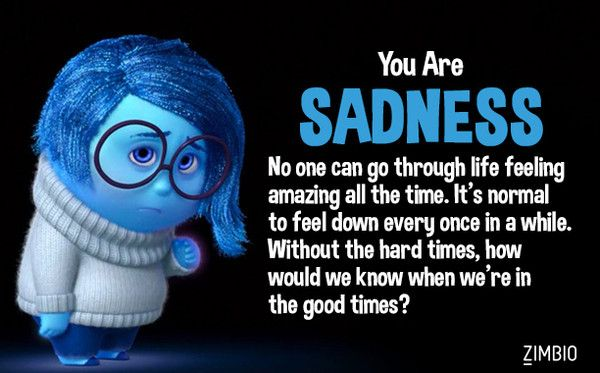 Inside Out Pixar Sadness Quotes Quotesgram: Which 'Inside Out' Emotion Are You?