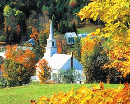 I love New England style churches...D and I were married in one!