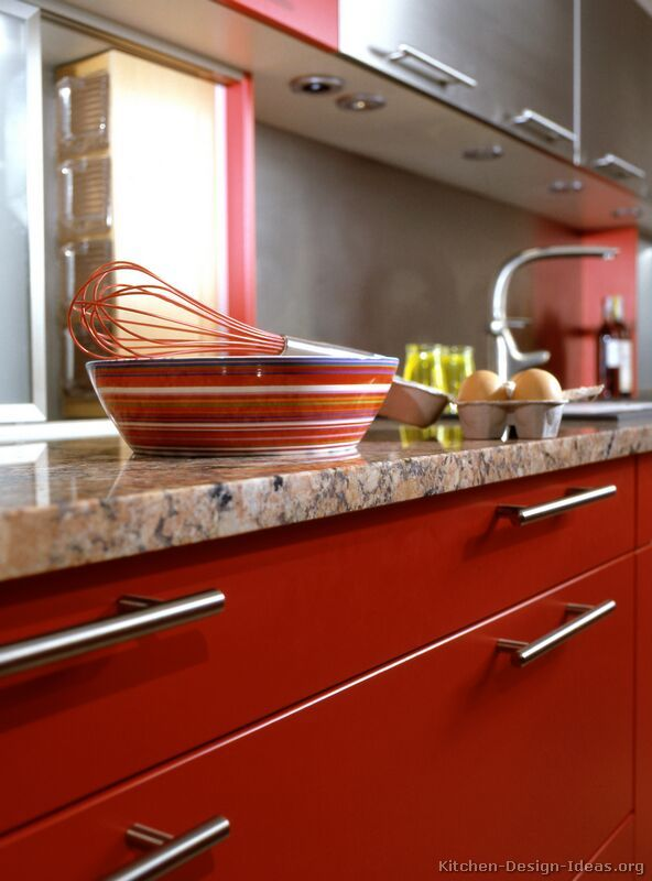 157 best images about red kitchens on pinterest