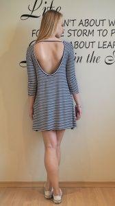 Bawełniana sukienka w paski by o la la