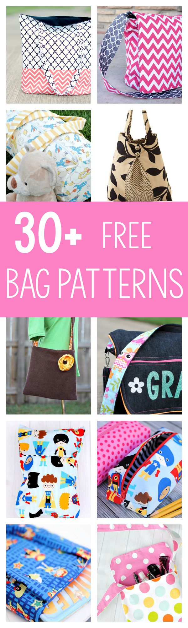 Tons of Great Free Bag Patterns to Sew