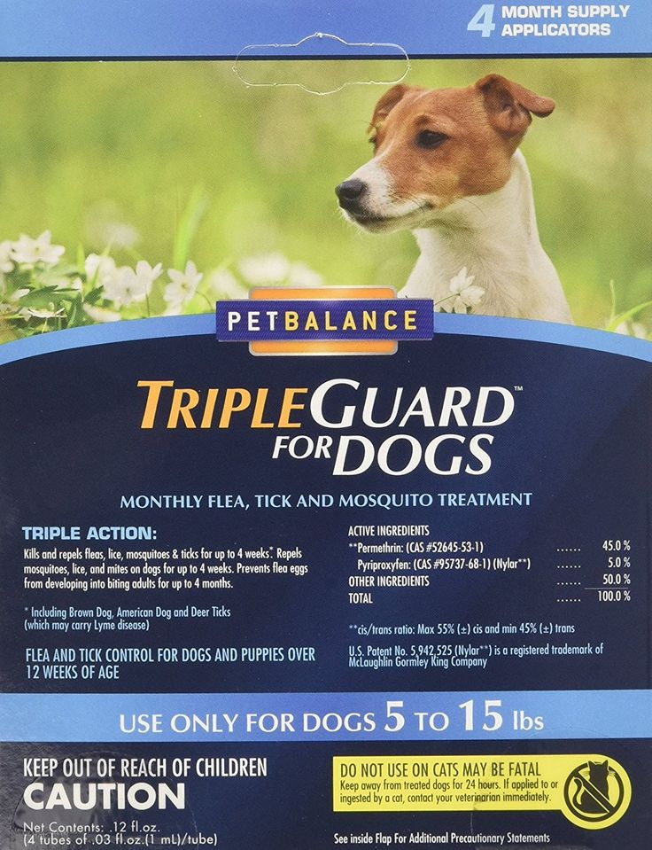 PetBalance TripleGuard Flea and Tick Treatment for Dogs, 4 Month Supply ** For more information, visit now : Flea and Tick Control