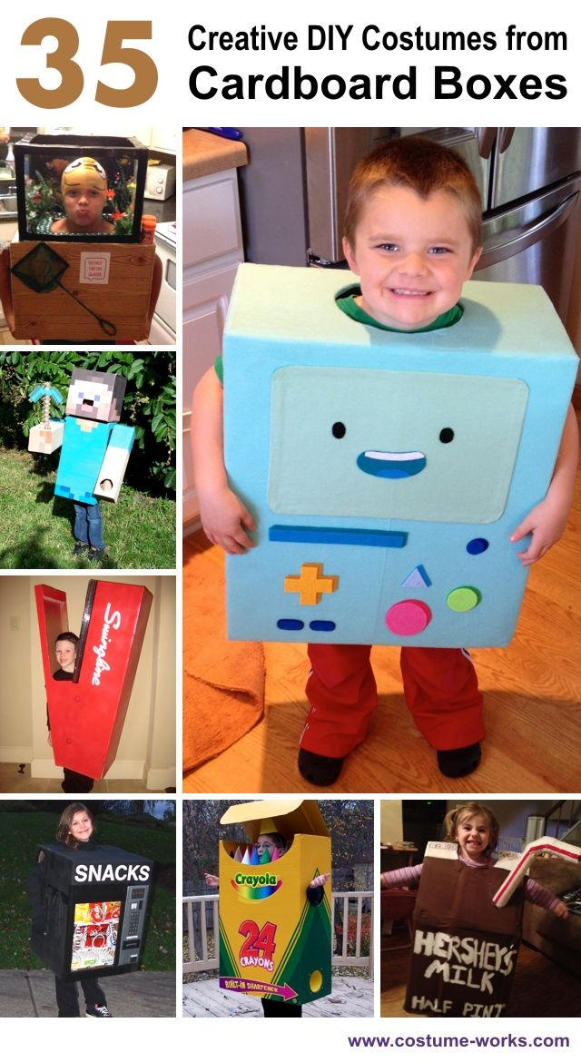 Creative DIY Halloween Costumes from Cardboard Boxes