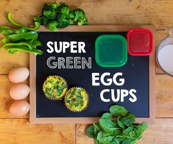 1/2 Green, 1 Red  Super Green Egg Cups 21-Day Fix-Approved Recipe