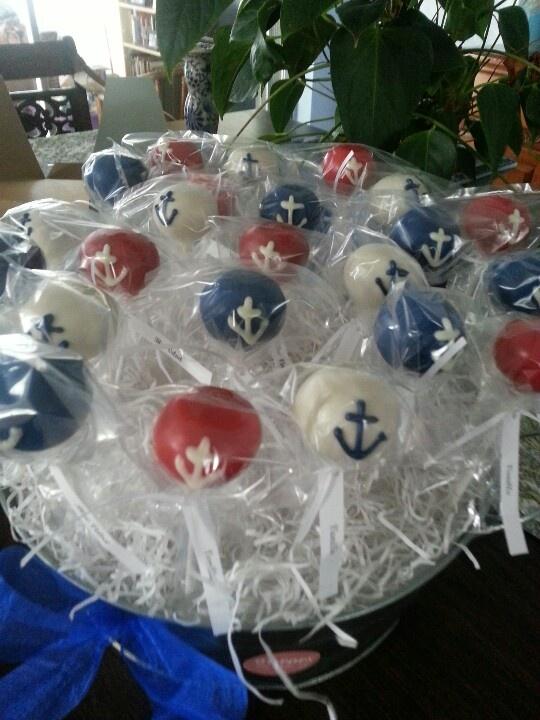 Nautical. Cake pops