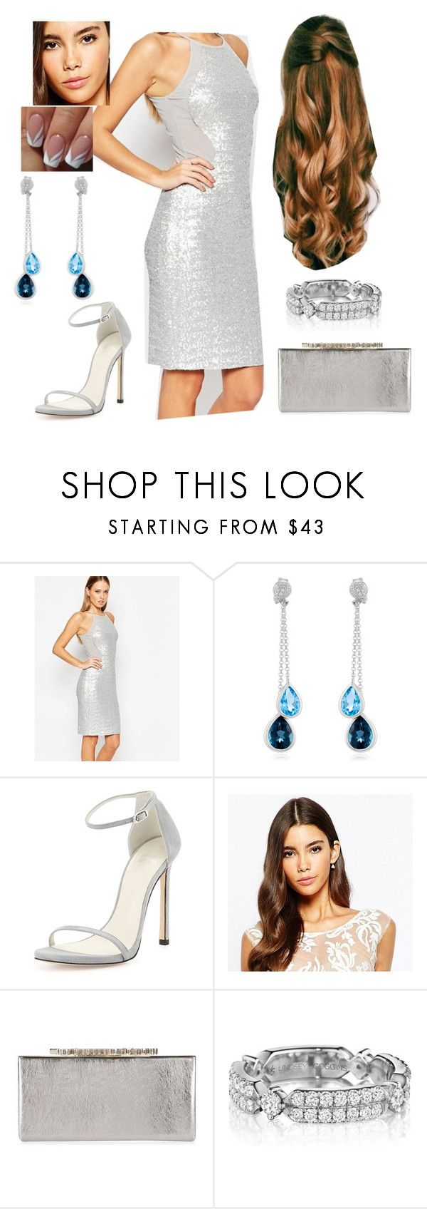 """Bez tytułu #19908"" by sophies18 ❤ liked on Polyvore featuring TFNC, Effy Jewelry, Stuart Weitzman, Love Triangle and Jimmy Choo"