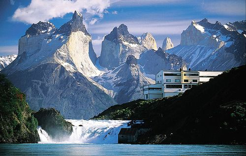 Hotel Salto Chico in Chilean Patagonia.  I think it's the location that's stunning!