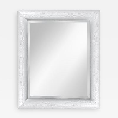Mirror in White Snake Skin by Karl Springer by Karl  Springer