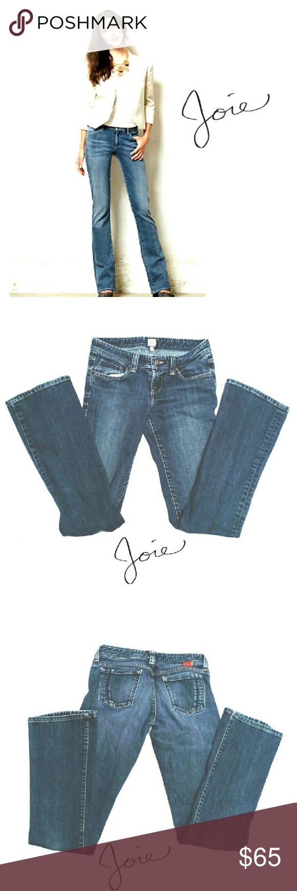 """JOIE BABY BOOTCUT MEDIUM WASH JEANS JOIE BABY BOOTCUT MEDIUM WASH JEANS Pre-Loved  / RN# 105230 SZ 27 This Brand Gives a Really Great Fit with a Little Slimming Effect in the Cut. *   Standard 5 Pocket Jean's *   Button /Zip Front & Belt Loops *   98% Cotton  2% Elastane *   Made in the U.S.A. Approx Meas; WAIST 14"""" RISE APPROX;  7 1/2"""" INSEAM; 33"""" BOOT W 8"""" PLS See All Pics. Ask ? If Not Sure Joie Jeans Boot Cut"""