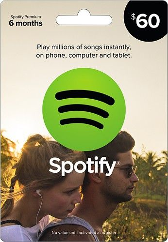 Family - Spotify - $60 Spotify Premium Music Gift Card - Larger Front