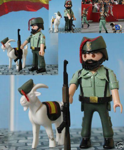 PMW Playmobil CUSTOM SOLDADO LEGIONARIO CON CABRA EJERCITO ESPAÑOL ¡EXCLUSIVO! in Juguetes, Playmobil y Airgamboys, Playmobil | eBay