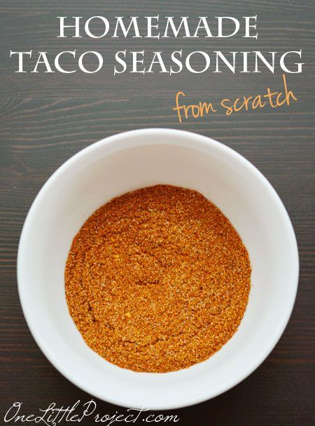 Homemade taco seasoning - This tastes so much better than the store bought mix and is a much healthier option!
