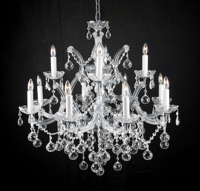 Swarovski crystal trimmed chandelier new lighting chandelier w crystal balls 28 x 30 sw