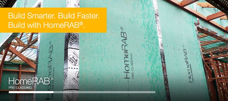 Build smarter. Build faster. With James Hardie HomeRAB, their latest pre-cladding product. #jameshardie #buildtough #precladding #homerab