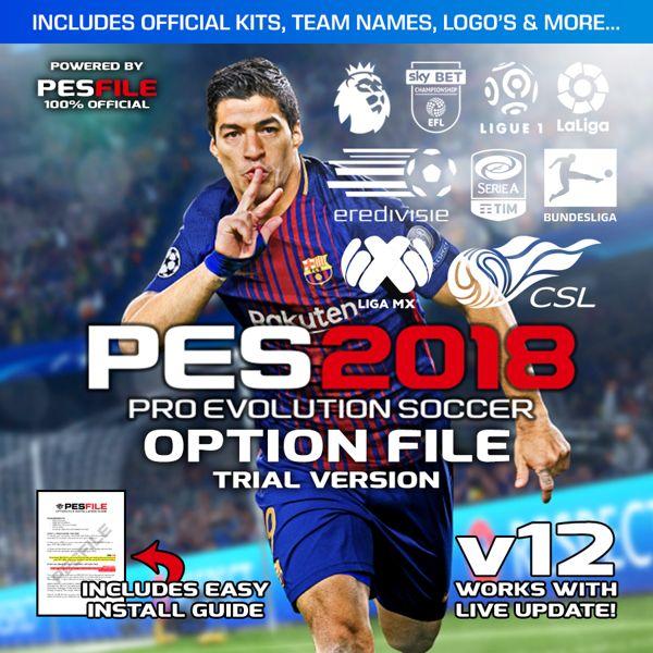 PES 2018 Option FIle PS4 v12 (Pro Evolution Soccer 2018) - Instant Delivery