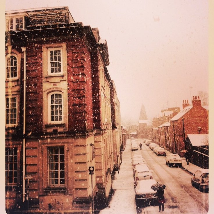 Snowy day out my front window. Jericho, Oxford.