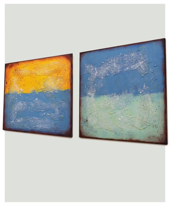 Acrylic Painting Canvas Wall art Abstract artwork  Once and
